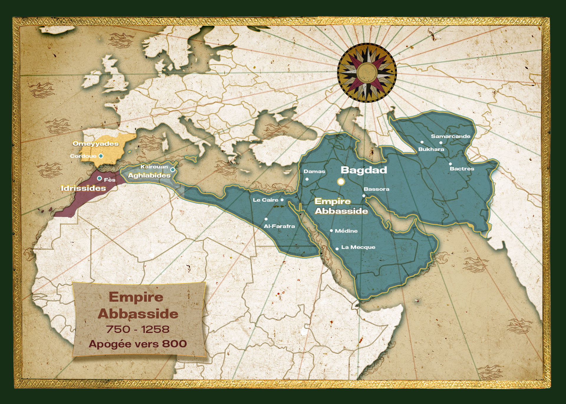 Carte de l'Empire Abbasside